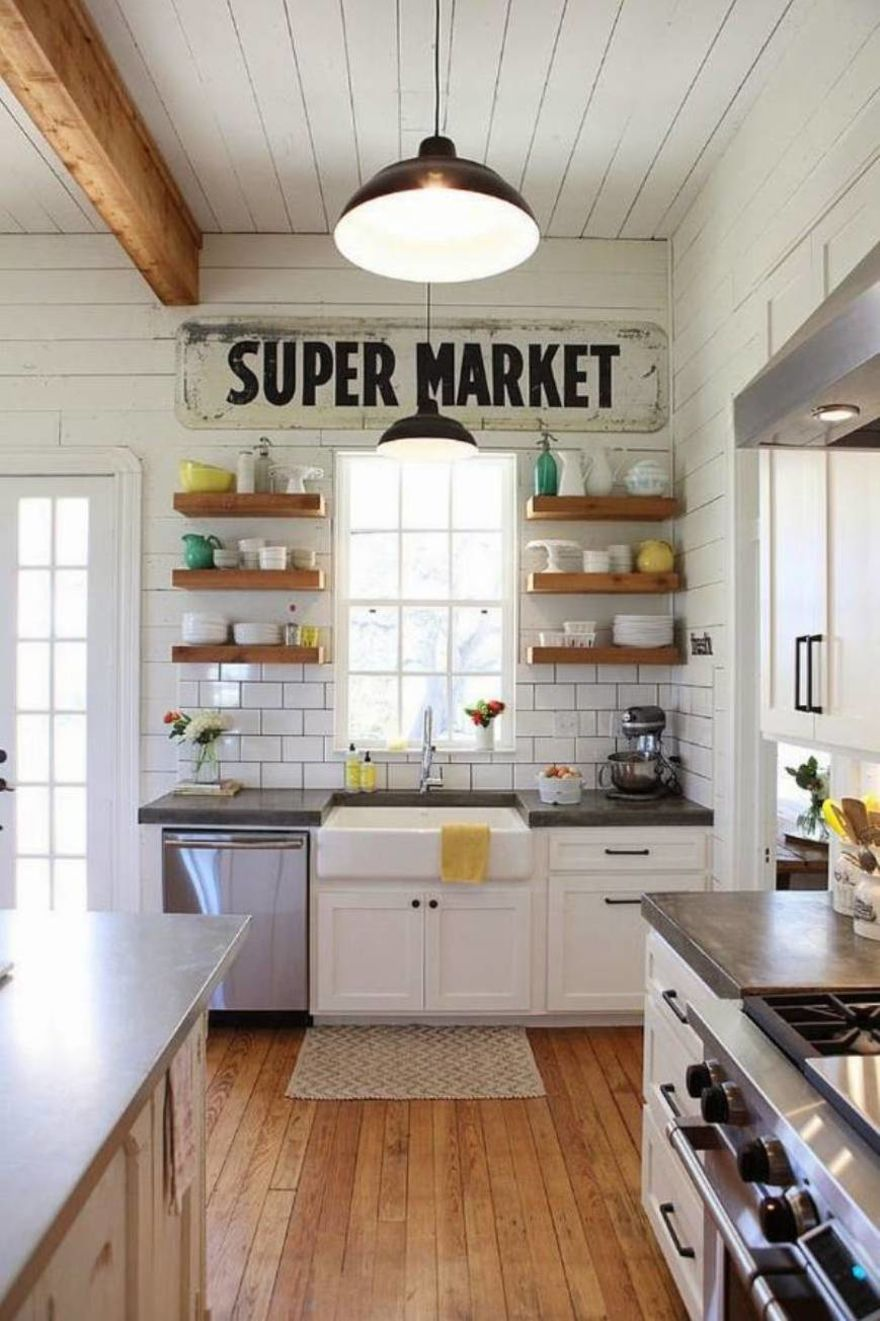 8 smart design blends multiple materials - Country Kitchen Ideas