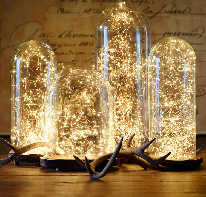 9 tiny bulbs under the glass are those pixies - Home Decor Lights