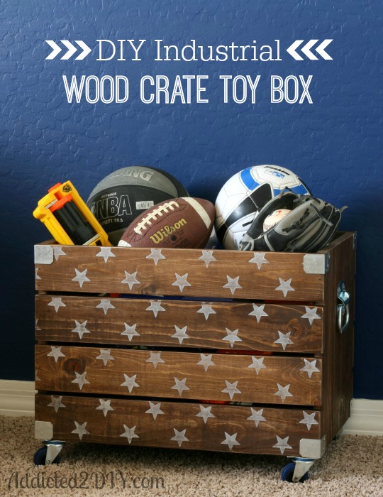 26 best diy wood crate projects and ideas for 2017. Black Bedroom Furniture Sets. Home Design Ideas