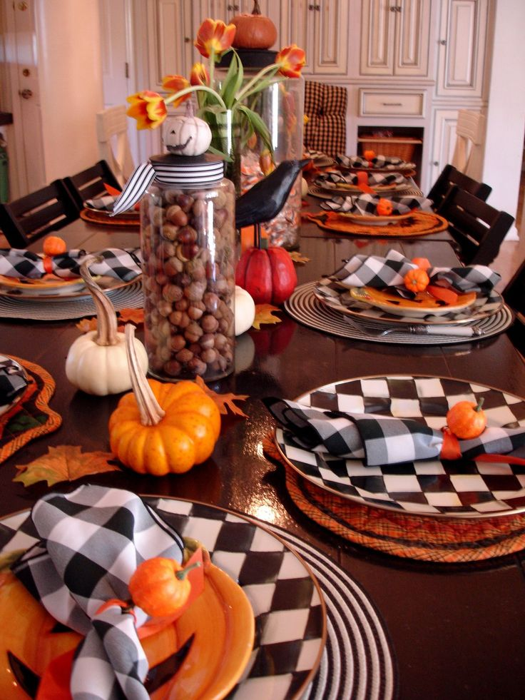 country halloween - Halloween Table Decoration