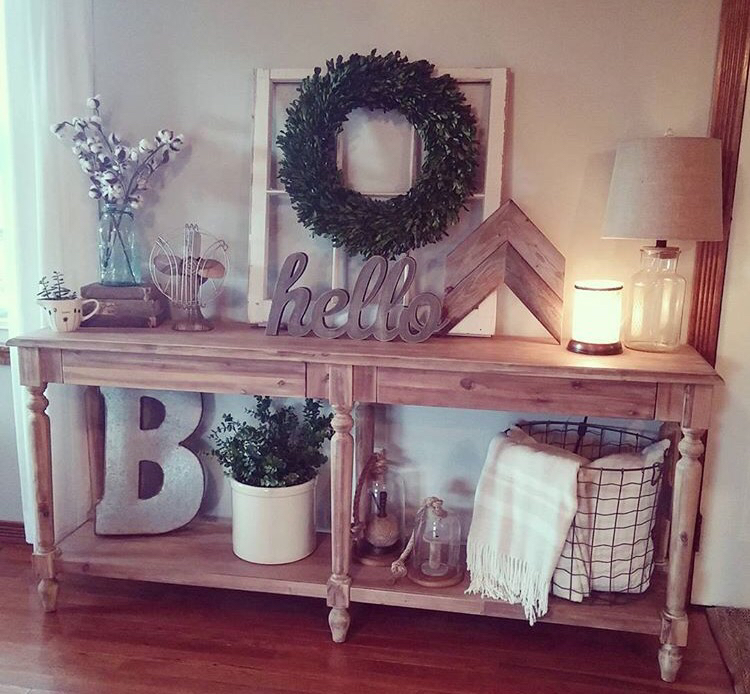 Foyer Table Display : Best rustic entryway decorating ideas and designs for
