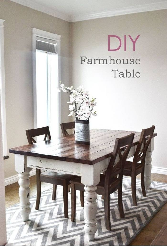 Model Of Build Your Own Rustic Chic Farmhouse Table Minimalist - Modern build your own farmhouse table Plan