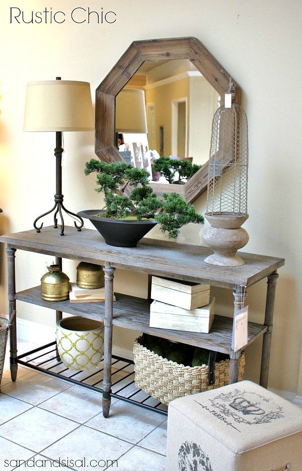 27 best rustic entryway decorating ideas and designs for 2016 Foyer console decorating ideas