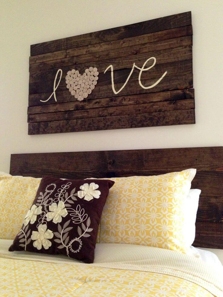 this is another diy farmhouse decoration that shows how endless the possibilities are when you have some old wood lying around