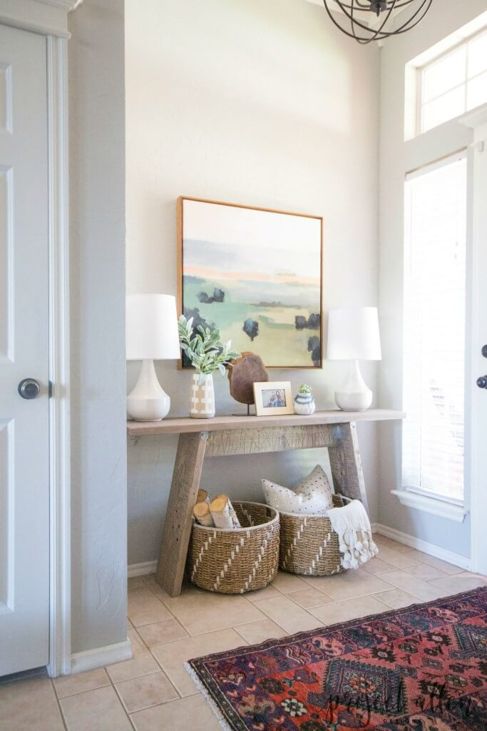Modern Beachy and Rustic Entryway