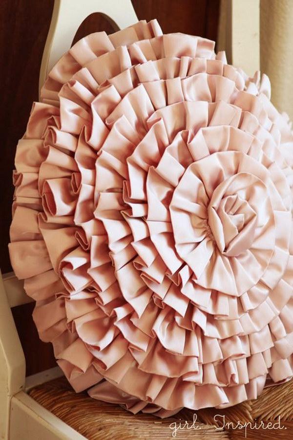 Huge DIY Rose Throw Pillow!