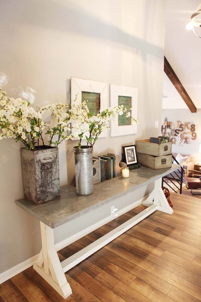Entryway Design Ideas find this pin and more on home decor entryway 12 Add Fresh Flowers In Rustic Containers