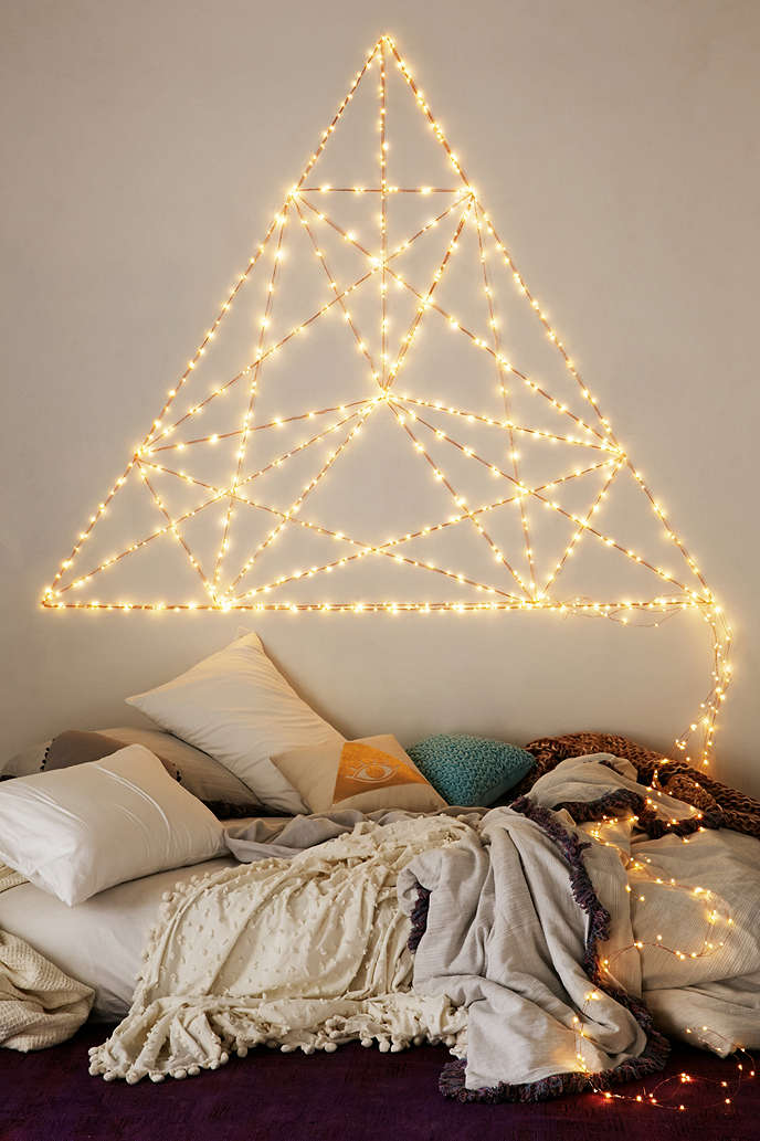 16 Patterns Of Geometry Lighted Headboard
