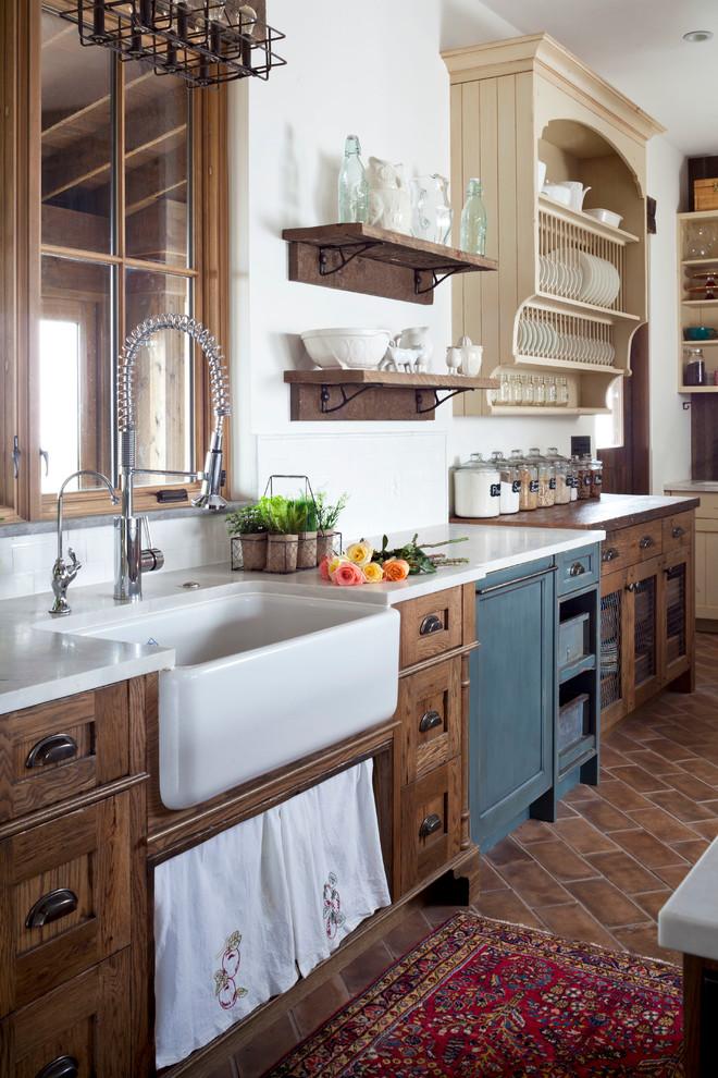 Rustic Country Kitchen Design Ideas A Chalkboard Makes a Unique