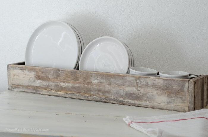 Farmhouse Old Wooden Dish Tray
