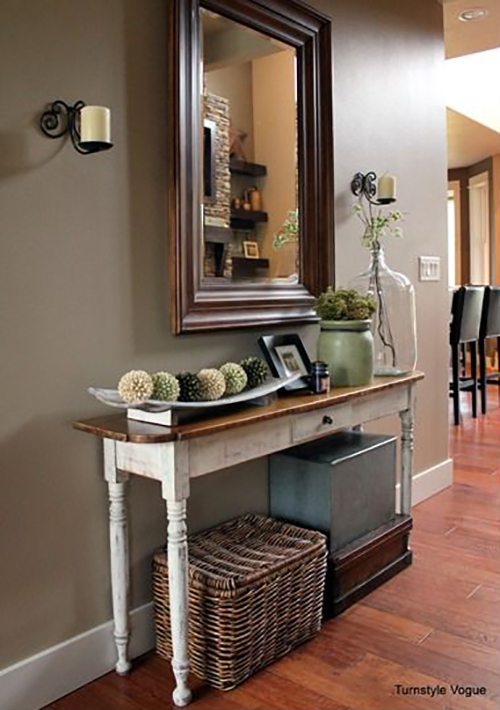 27 best rustic entryway decorating ideas and designs for 2018 Entry table design ideas