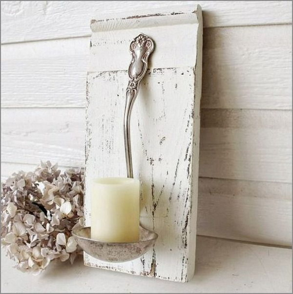Shabby Chic Ladle Wall Sconces