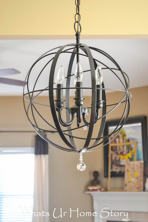 This Clean-Lined Chandelier is a Statement Piece