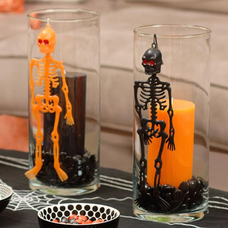 45 skeleton danglers - Halloween Table Decoration