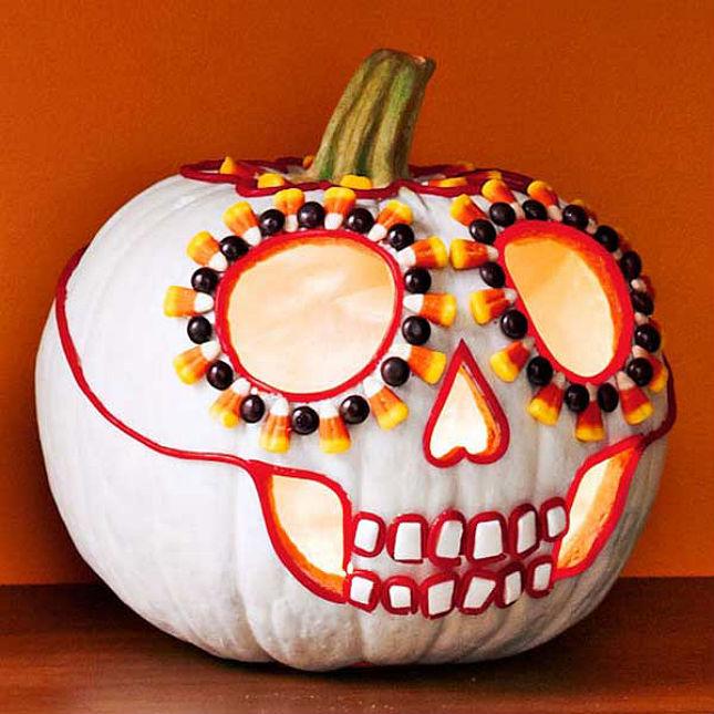 50 eye candy sweet skull - Pumpkin Decoration