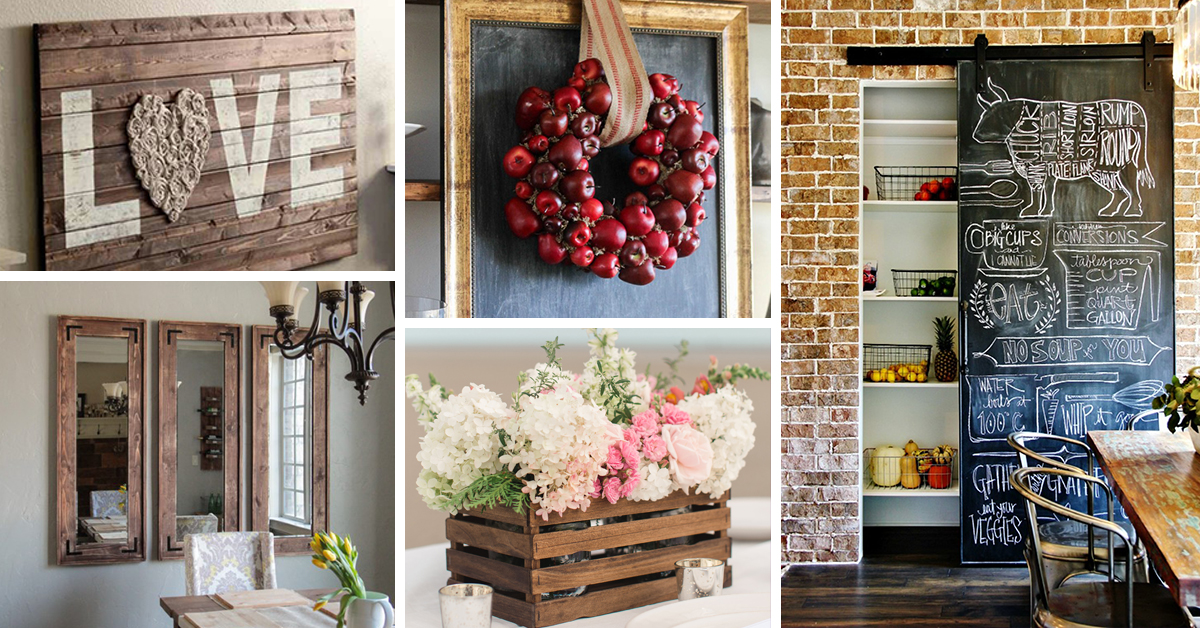 Home Design Ideas Diy: 30 Best DIY Farmhouse Decor Ideas And Designs For 2017