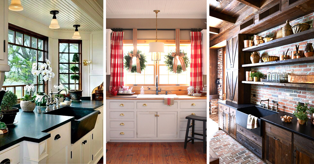 Rustic country kitchen designs Country style kitchen ideas