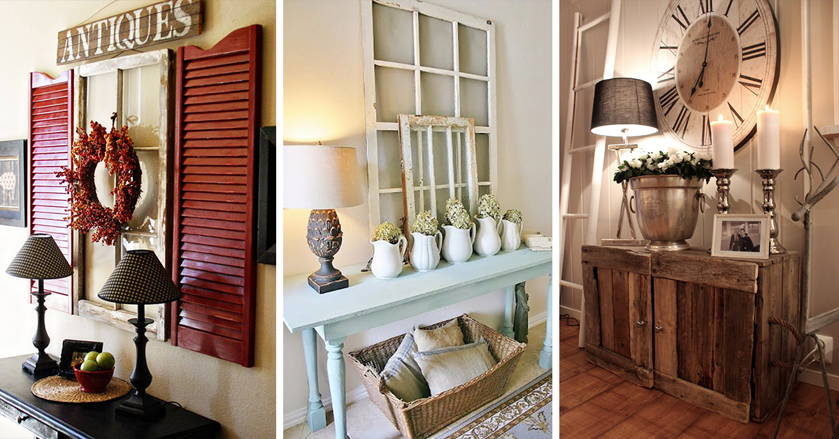 Attractive 27 Best Rustic Entryway Decorating Ideas And Designs For 2018