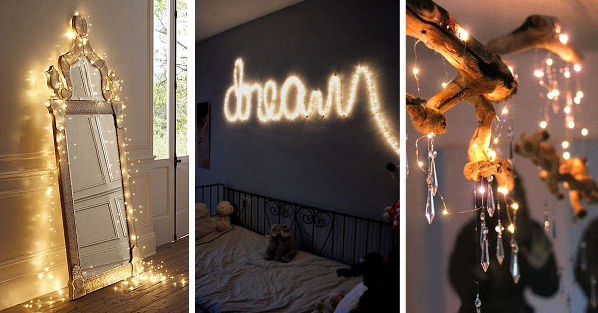 String Lights Ideas : 33 Best String Lights Decorating Ideas and Designs for 2016