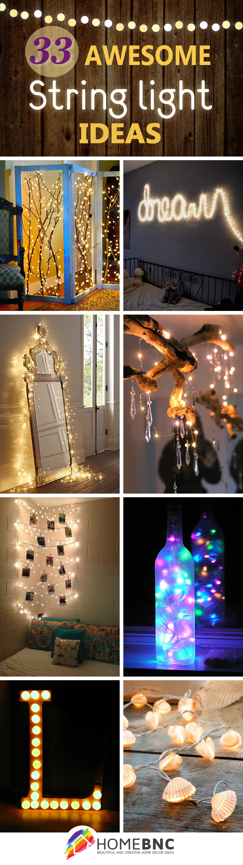 Enhance Your Living Spaces: 33 Ways You Can Decorate With String Lights