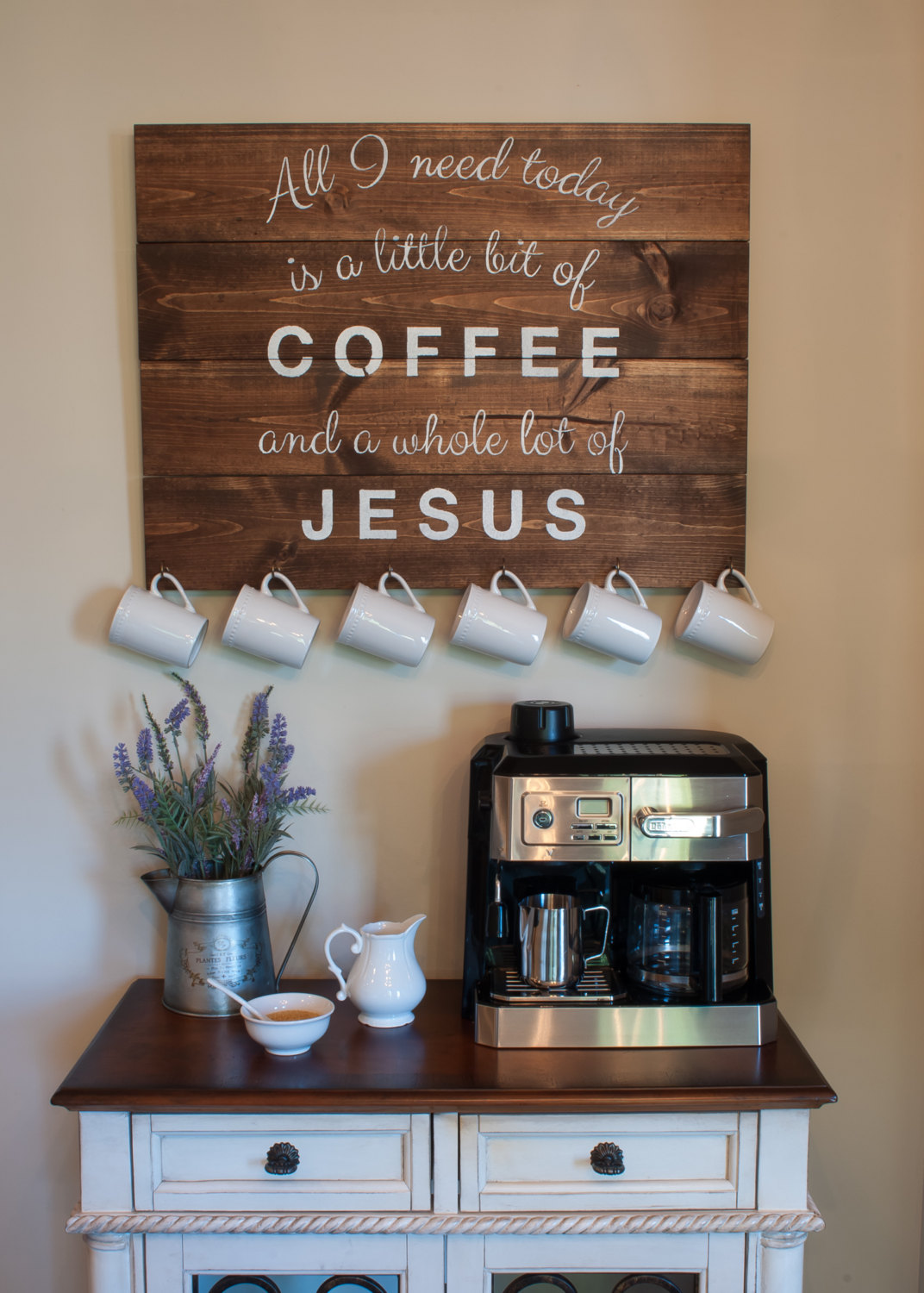 23 best coffee station ideas and designs for 2018 for How to buy art for your home