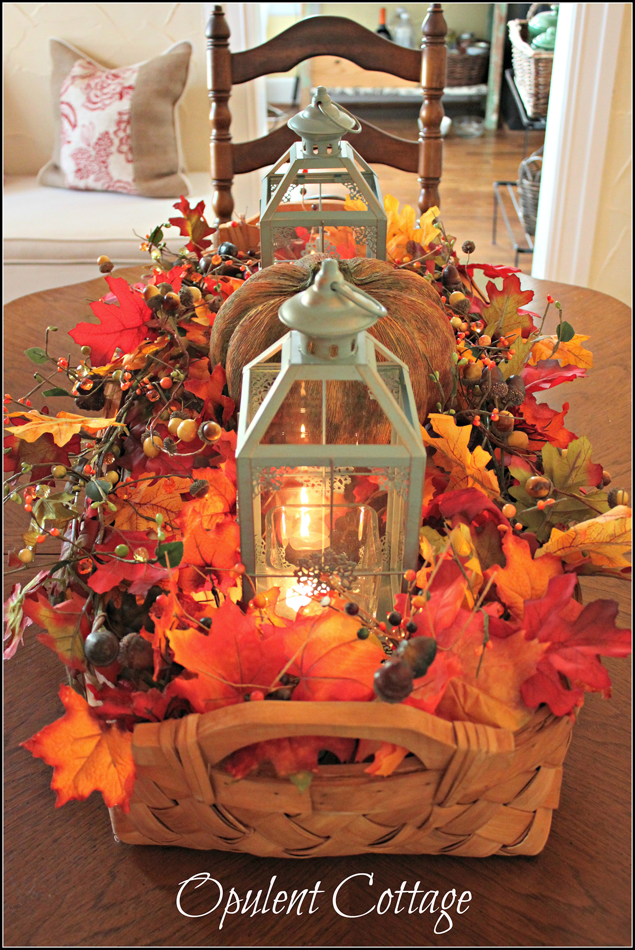 27 best diy fall centerpiece ideas and decorations for 2018. Black Bedroom Furniture Sets. Home Design Ideas