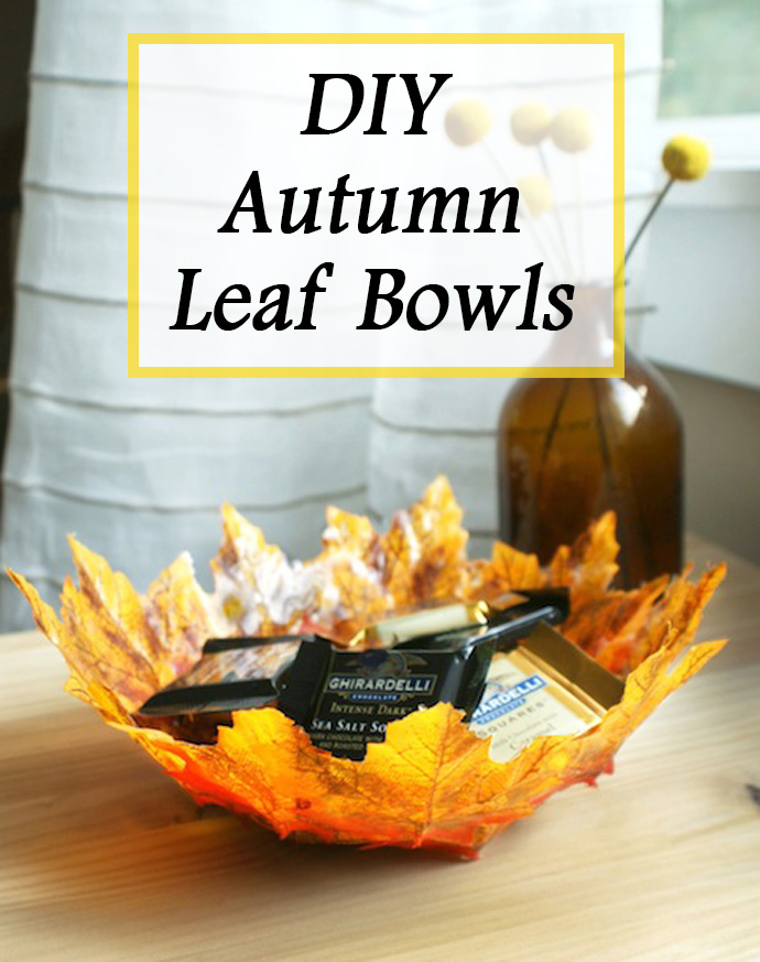 Craft Ideas To Decorate Home Part - 43: 2. Autumn Leave Bowls Make For Amazing Candy Dishes