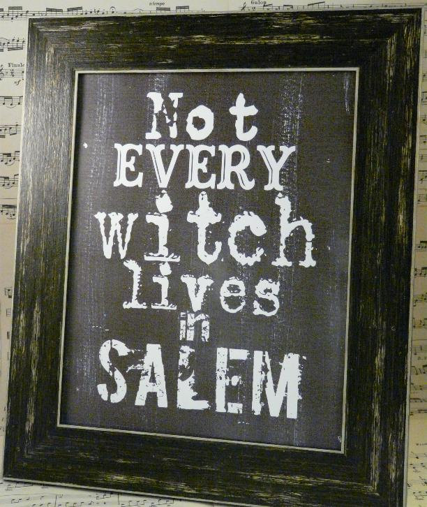 """Not Every Witch"" Framed Print"