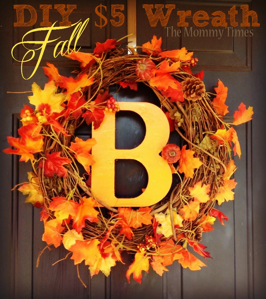 Fall Door Wreath Ideas Part - 49: A Fall Initial Wreath Is Pure Gold For The Front Door