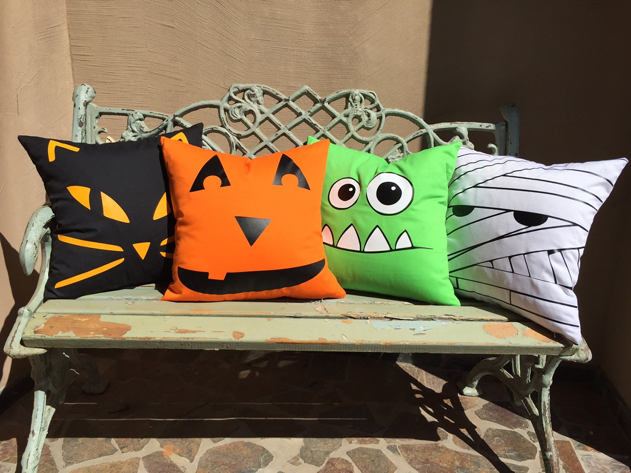4 monster mash throw pillows - Etsy Halloween Decorations