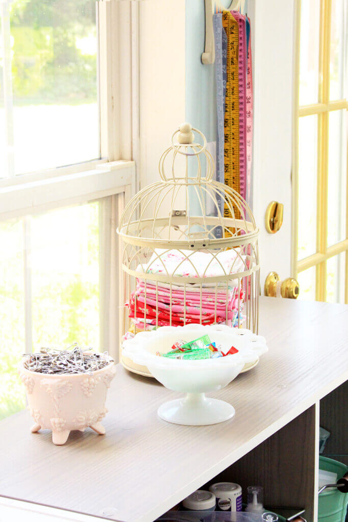 Aged Rustic Cage Fabric Holder