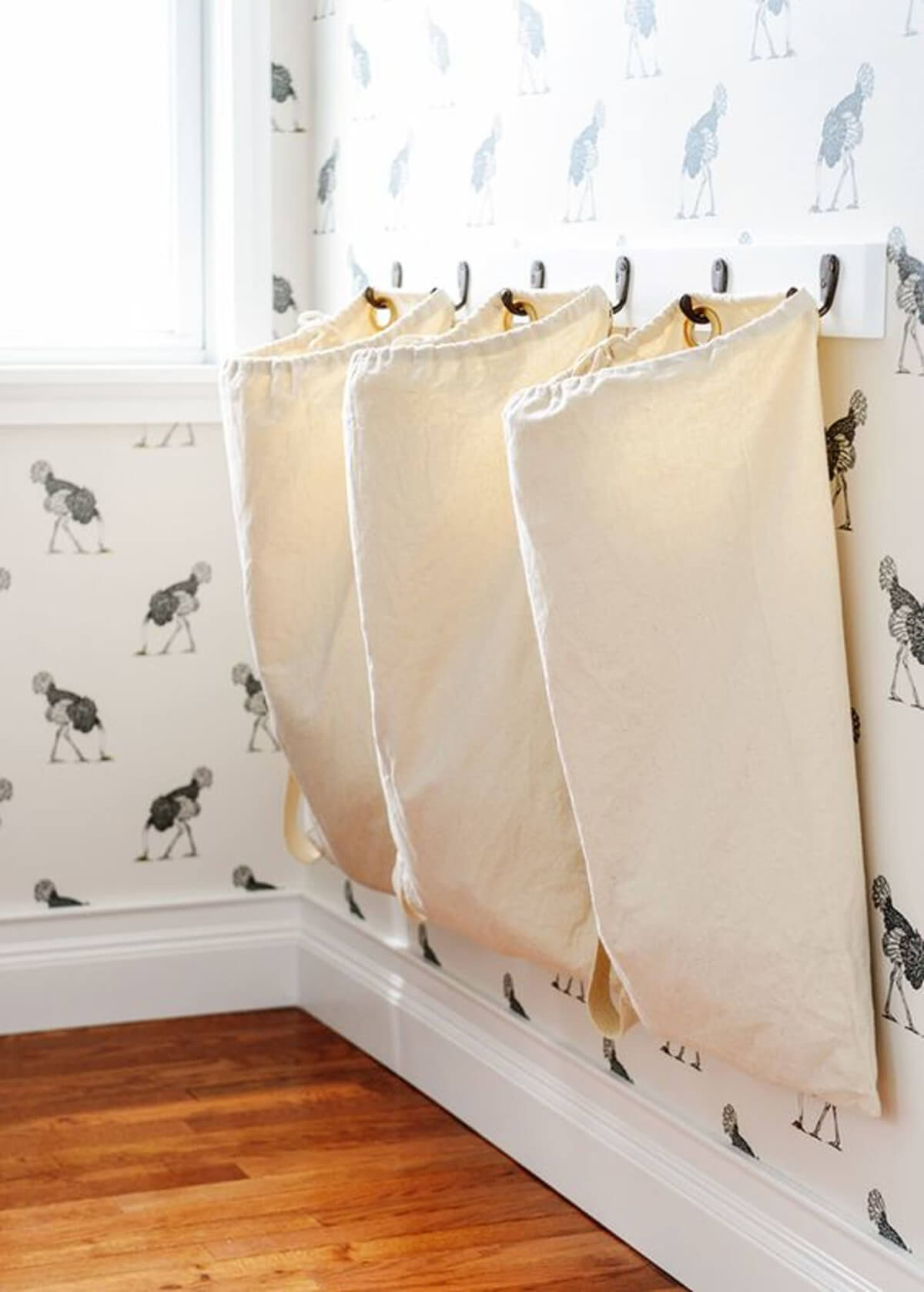 Hanging Canvas Bag Laundry Sorters