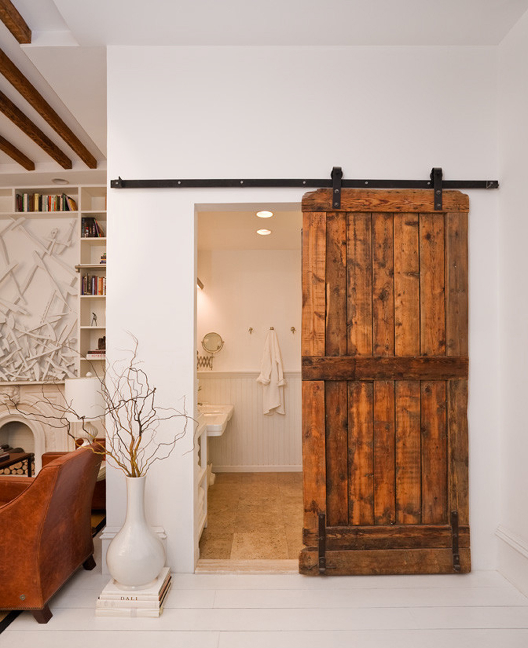 8 Rolling Barn Door With Black Iron Hardware