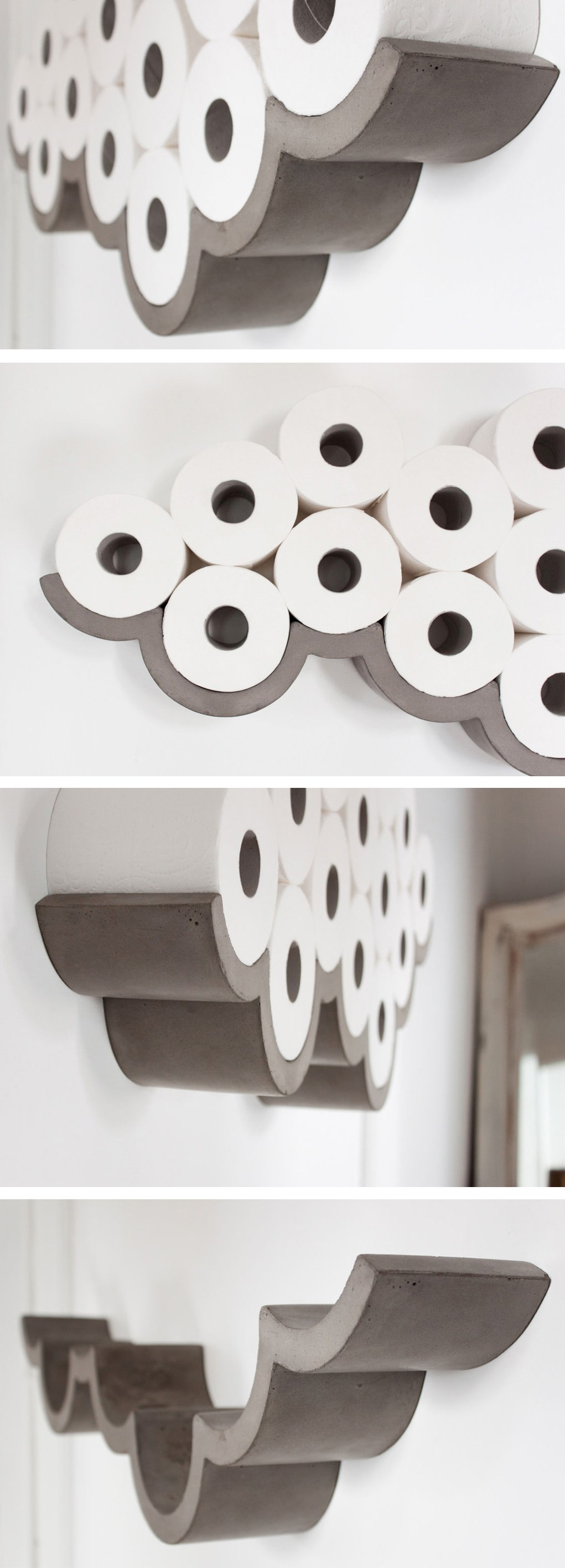 Paper Clouds Wall Decor : Best toilet paper holder ideas and designs for