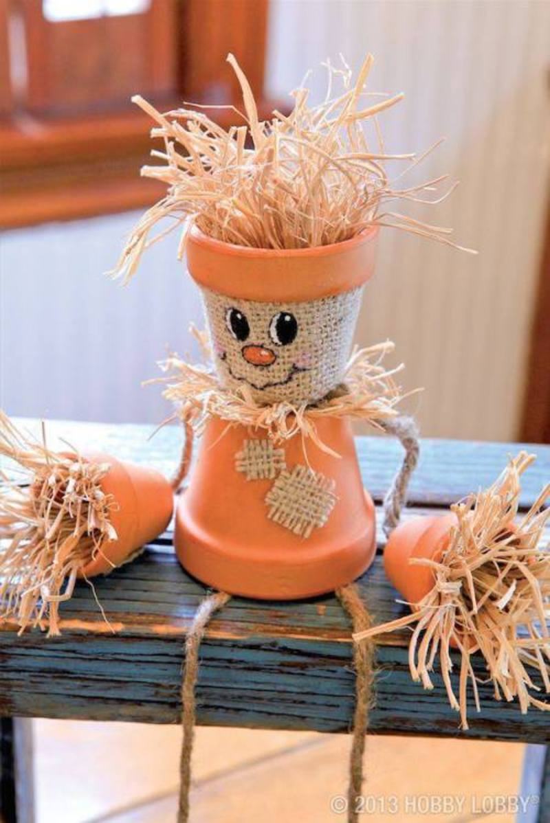diy fall craft cute scarecrow decorations decor easy projects autumn decorating project simple idea crafty halloween summer homebnc