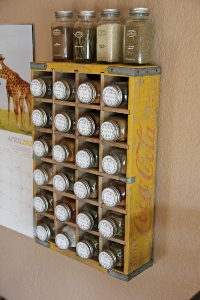 Classic Coca-Cola Crate Spice Rack