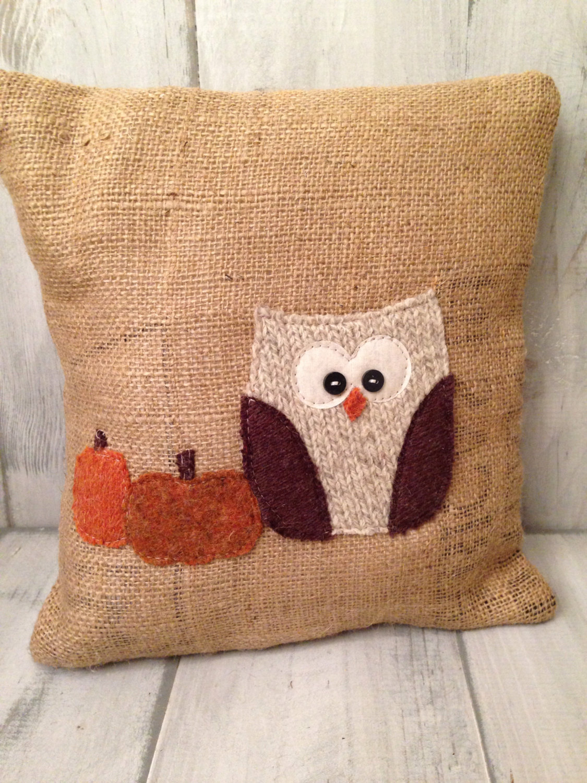 Decorative Fall Owl Cushion