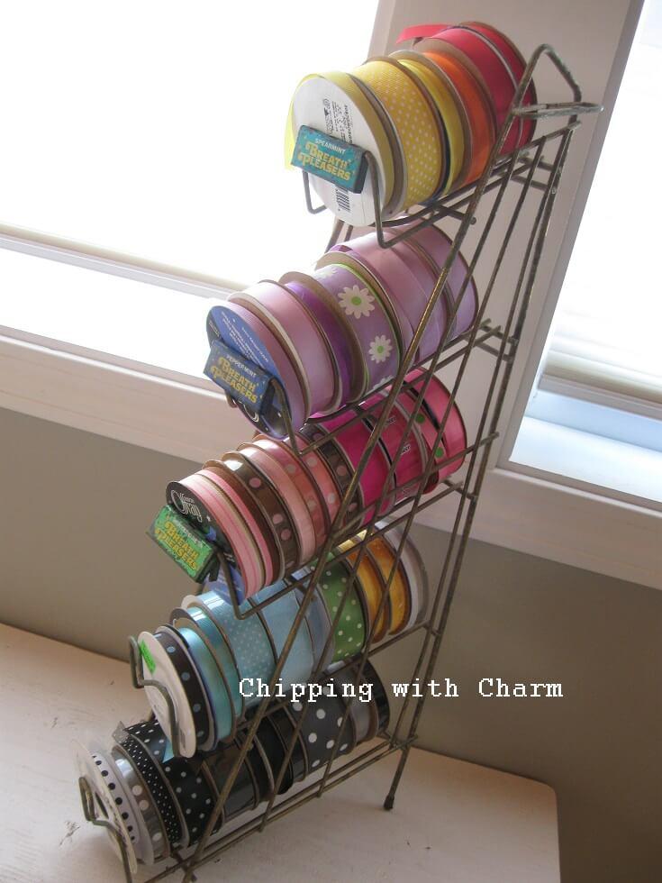 Wire Rack Ribbon Organizer Tower