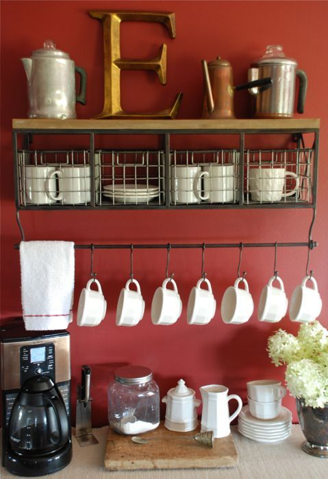 Charming Coffee Station Design Ideas for Starting Your Day Off Right