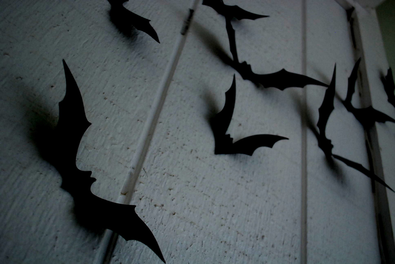 16 bat wall decals