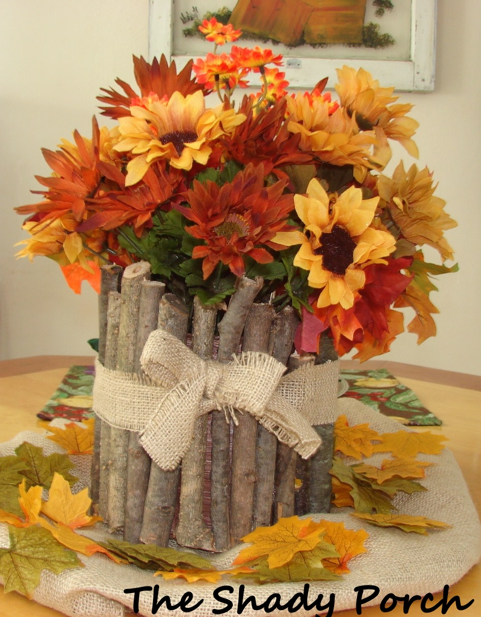 Tree Branch Vase with Sunflower Arrangement