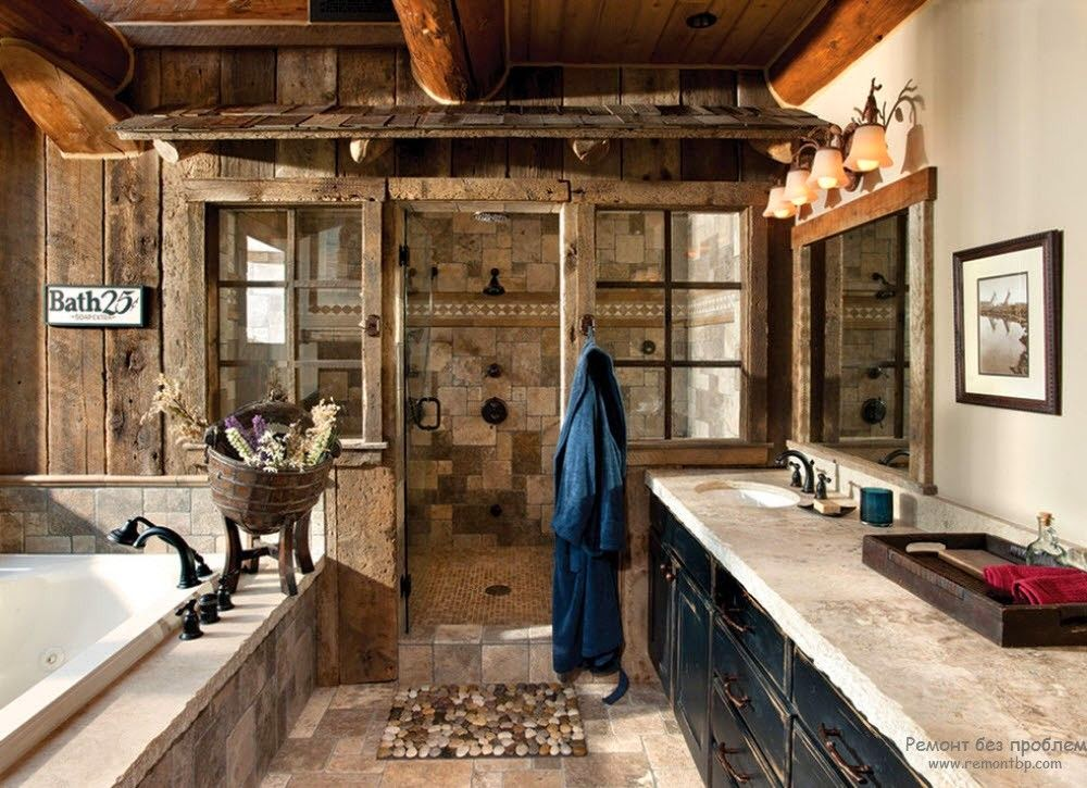 17 inspiring rustic bathroom decor ideas for cozy home style motivation. Black Bedroom Furniture Sets. Home Design Ideas