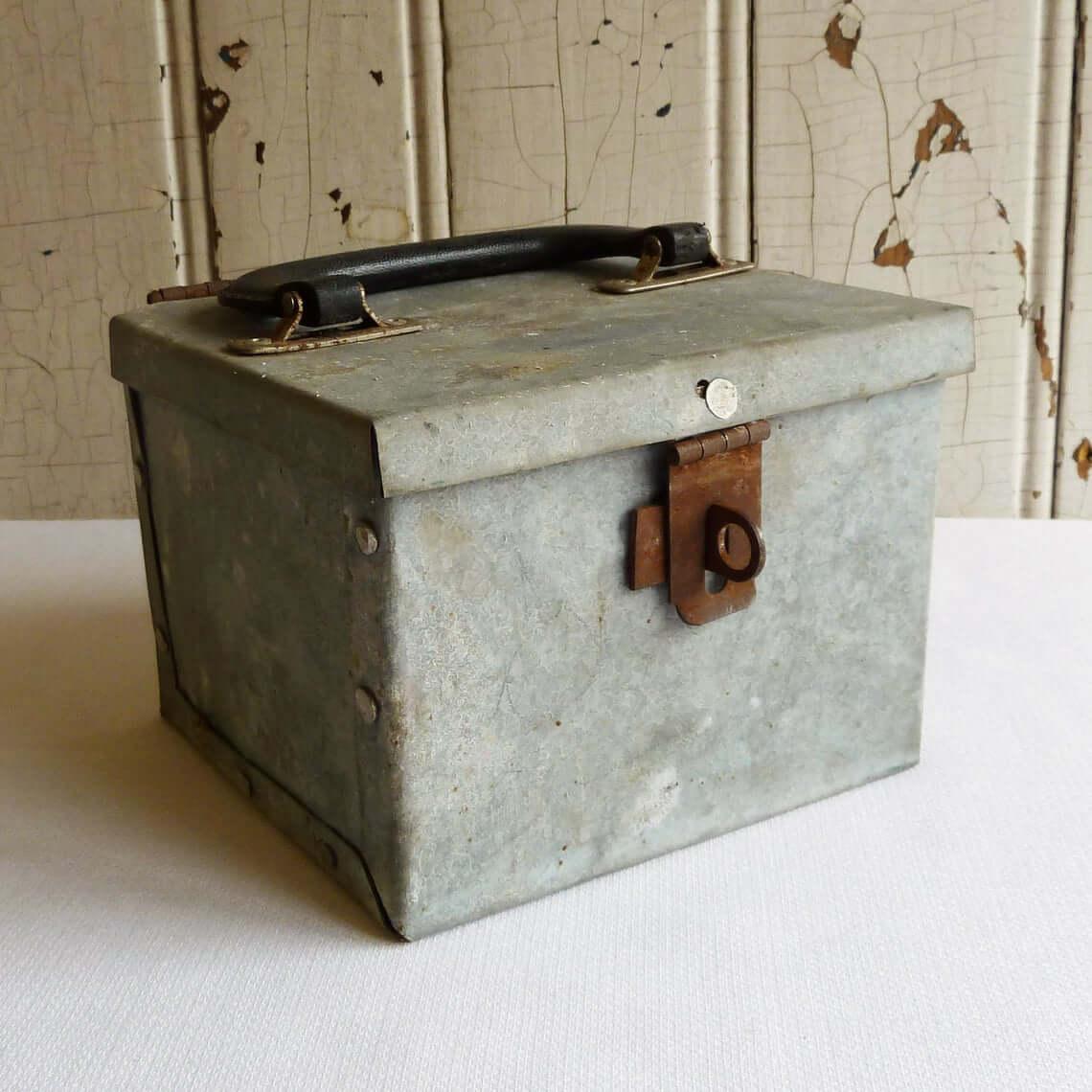 Crusty Industrial Metal Cube Box