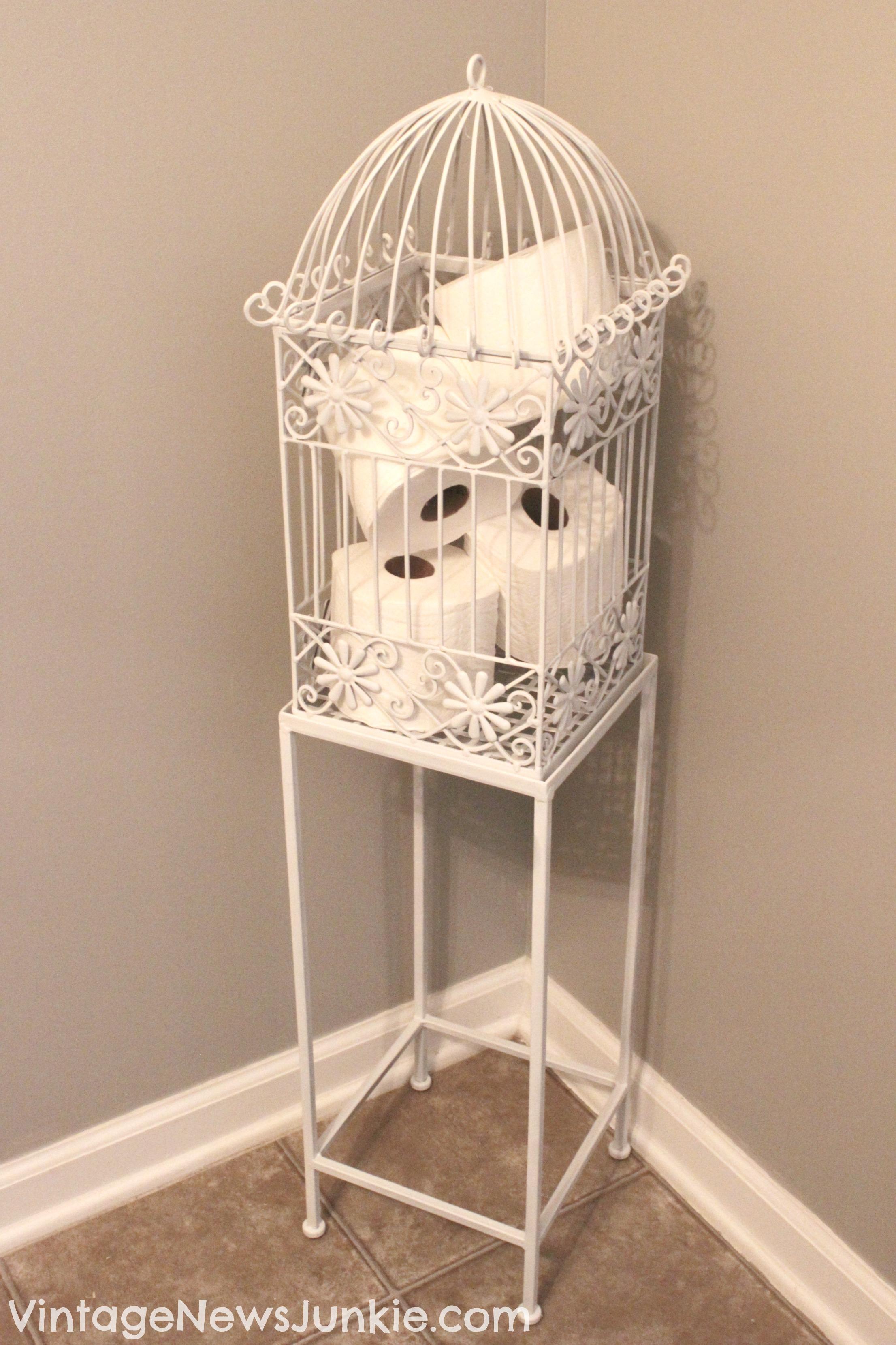 Vintage Birdcage Storage Basket