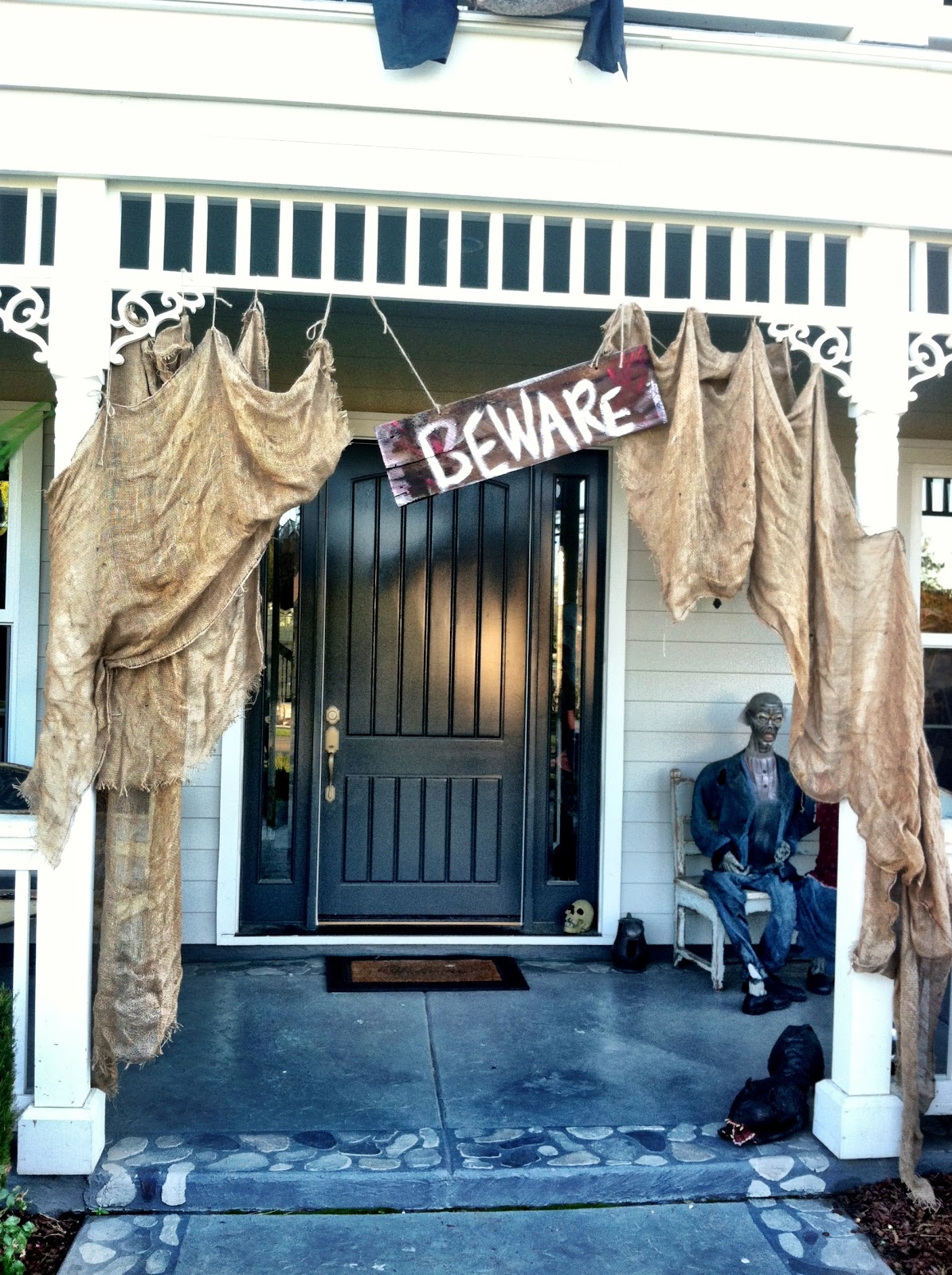 100 year old house untouched for years - Halloween Porch Decorating Ideas