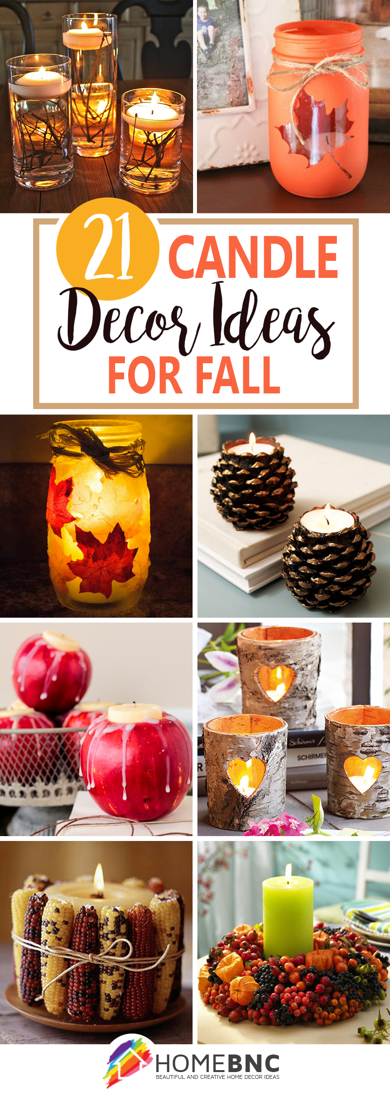 Fall Candle Decorations