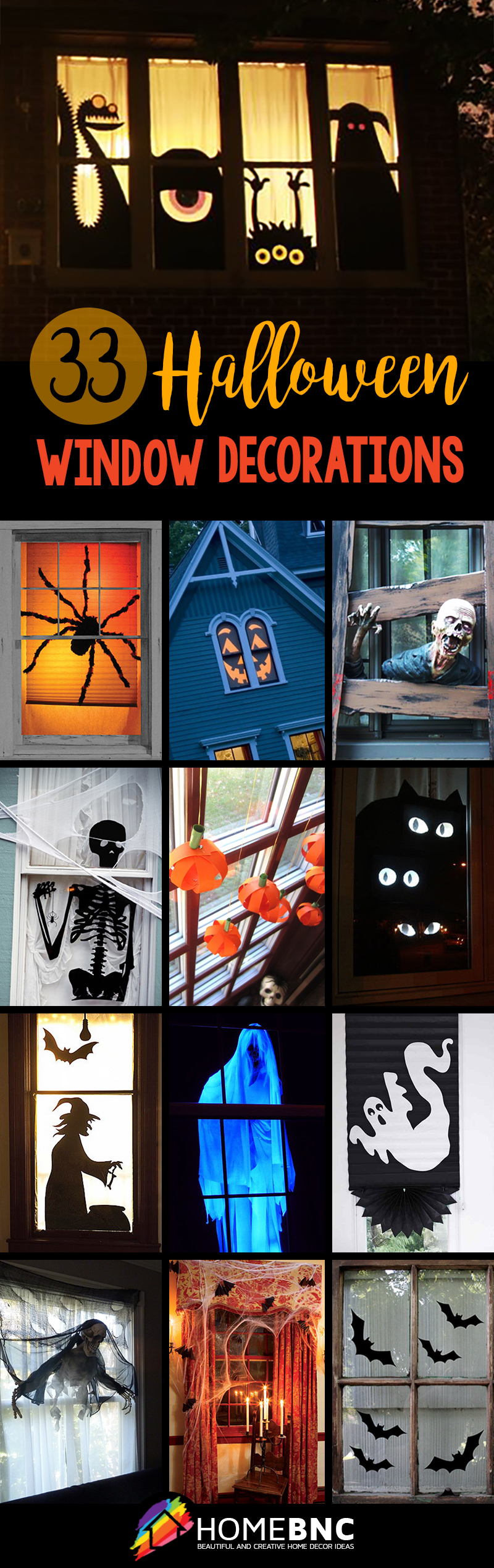 halloween window decorations - Halloween Window Decor