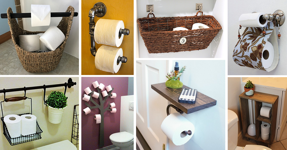 25 Best Toilet Paper Holder Ideas and Designs for 2020