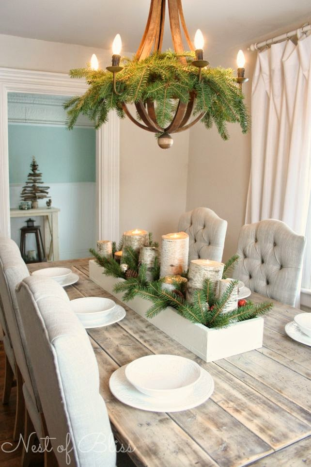 birch box centerpiece diy project details margaretofyorkcom this recycled birch wood christmas table decoration - Simple Christmas Table Decorations