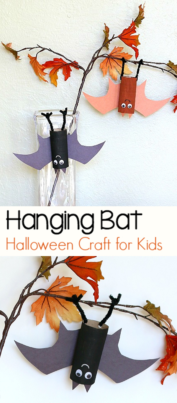 Toilet-paper Tube Hanging Bats